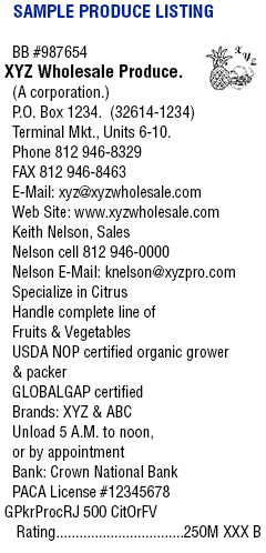 Sample-Produce-Listing